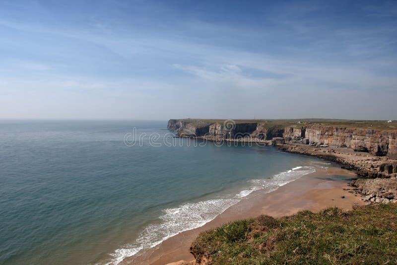 一个小的海滩 图库摄影