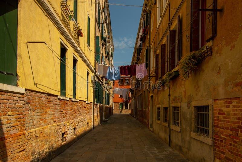 一个小胡同在威尼斯 库存图片