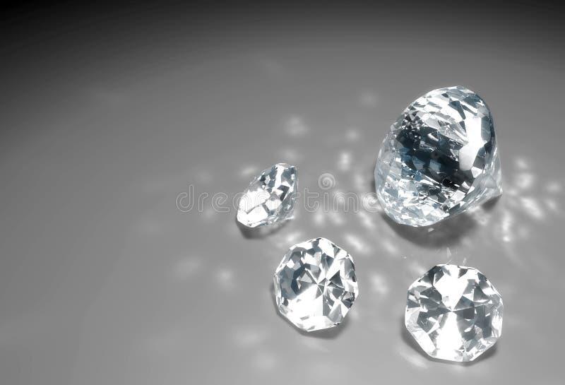 在地板上的四金刚石 向量例证