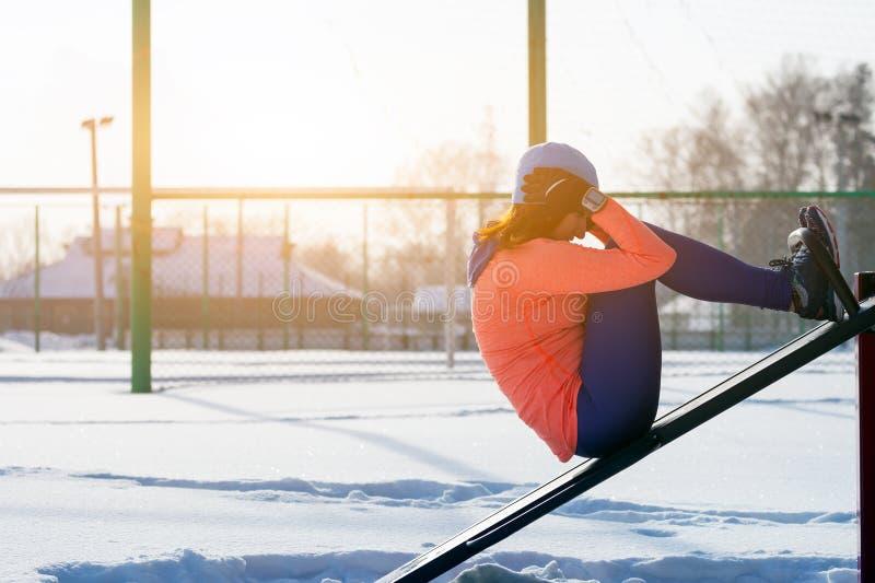 一个少妇连续冬天 库存照片