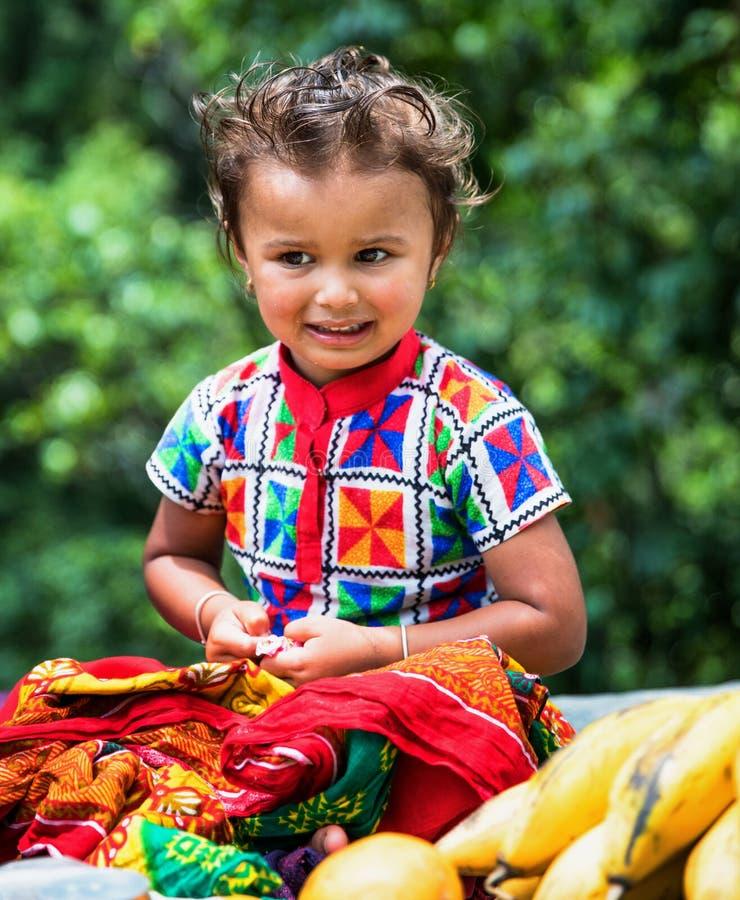 一个尼泊尔女孩的画象 免版税图库摄影