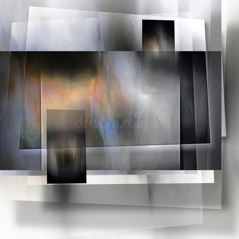 一个层状被遮蔽的盘区摘要 图库摄影