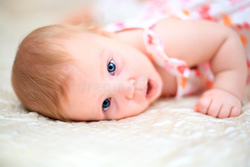 一个岁女婴 免版税库存图片