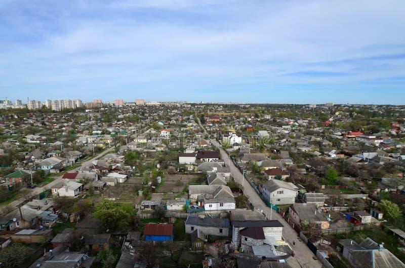 一个工业区的风景在从b的哈尔科夫市 免版税图库摄影