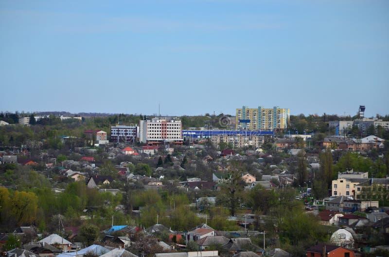 一个工业区的风景在从b的哈尔科夫市 库存图片