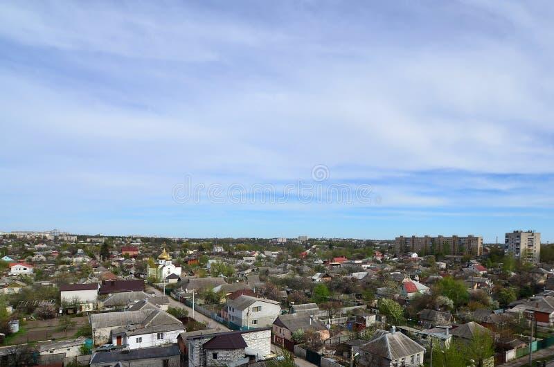 一个工业区的风景在从b的哈尔科夫市 库存照片