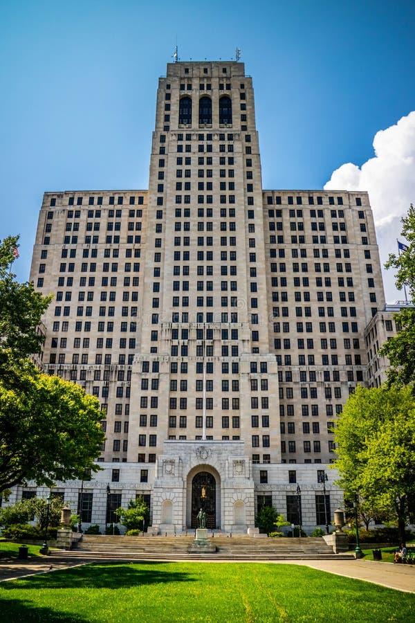 一个巨大的摩天大楼大厦在阿尔巴尼,纽约 库存照片