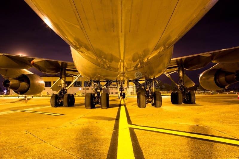 一个巨大的波音747航空器,一世界的最美好的ai 库存照片