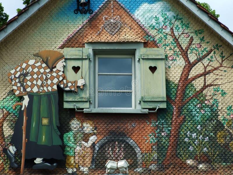 一个巫婆房子在克罗伊茨林根 免版税图库摄影