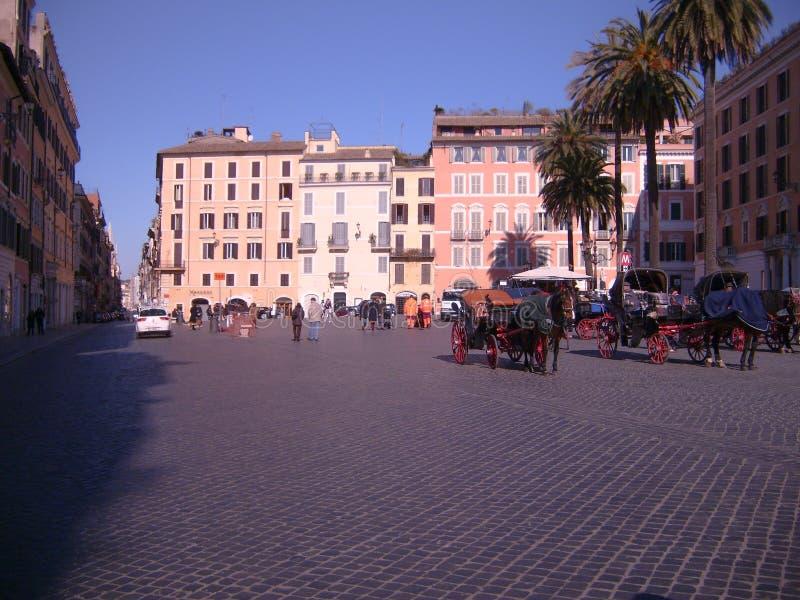 从一个广场的看法在罗马,意大利 库存图片