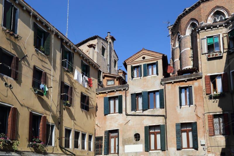 一个广场的议院在威尼斯,意大利 库存照片
