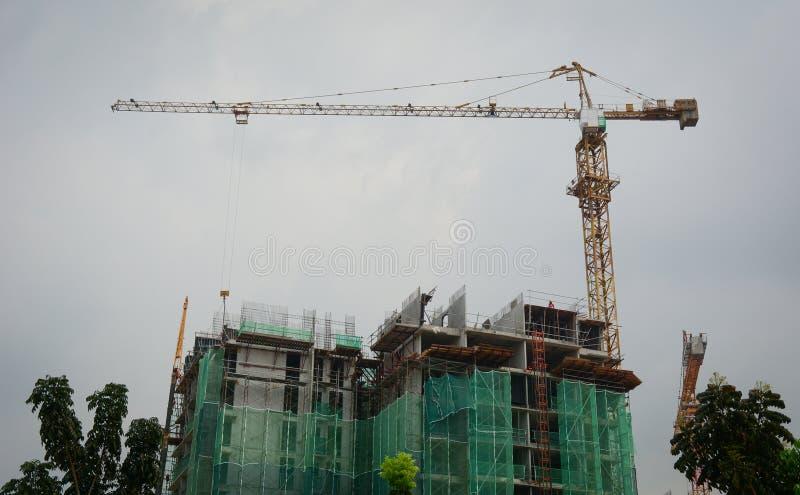 一个建造场所在布城,马来西亚 库存图片