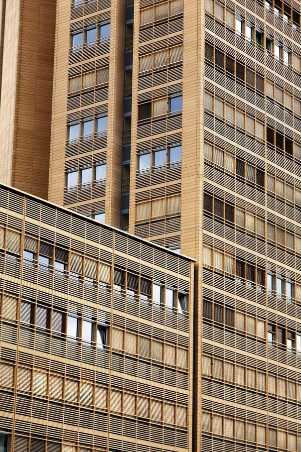 当代大厦建筑学摘要 库存照片