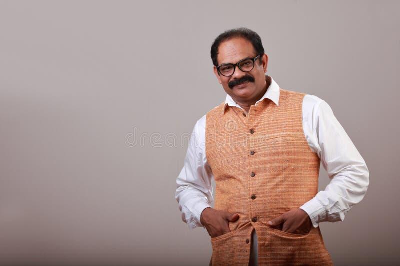 一个微笑的印度人 免版税图库摄影