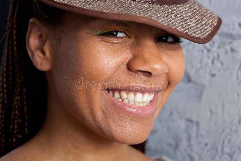 黑人妇女画象 免版税库存照片