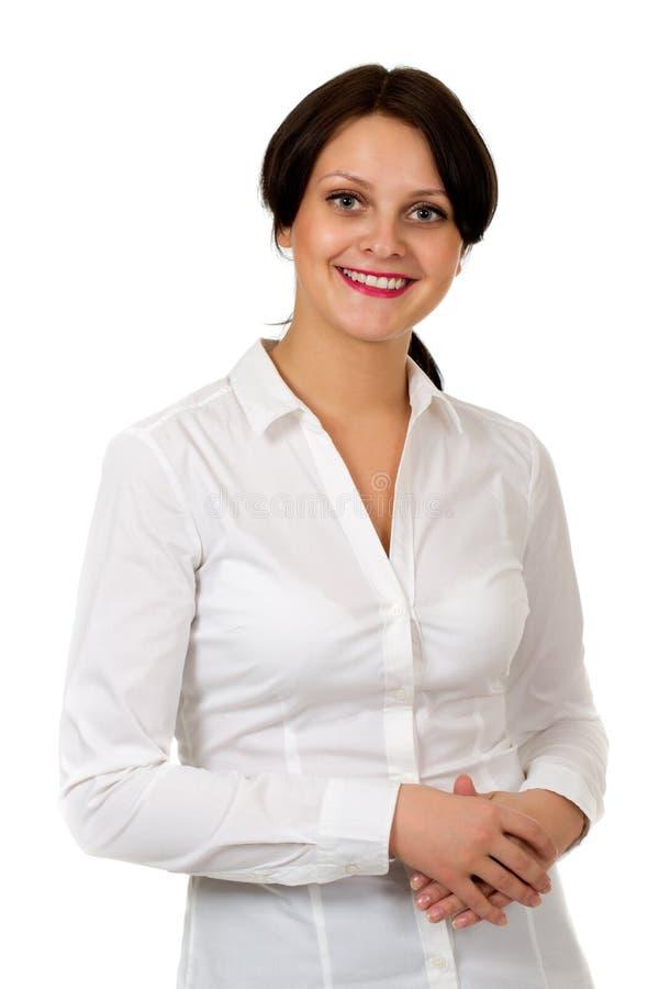 一个微笑的美丽的女孩 免版税库存图片