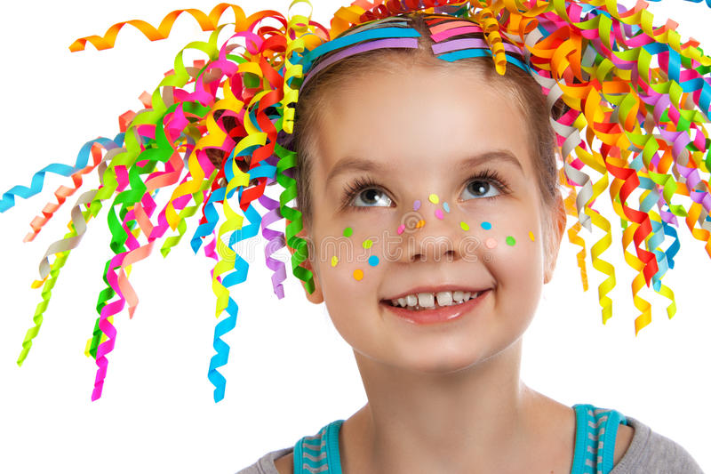 一个愉快的小女孩的明亮的画象 免版税库存照片