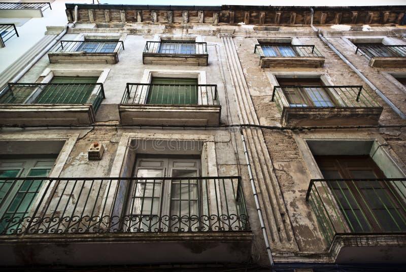 一个房子的门面在Barbatro,西班牙 免版税图库摄影