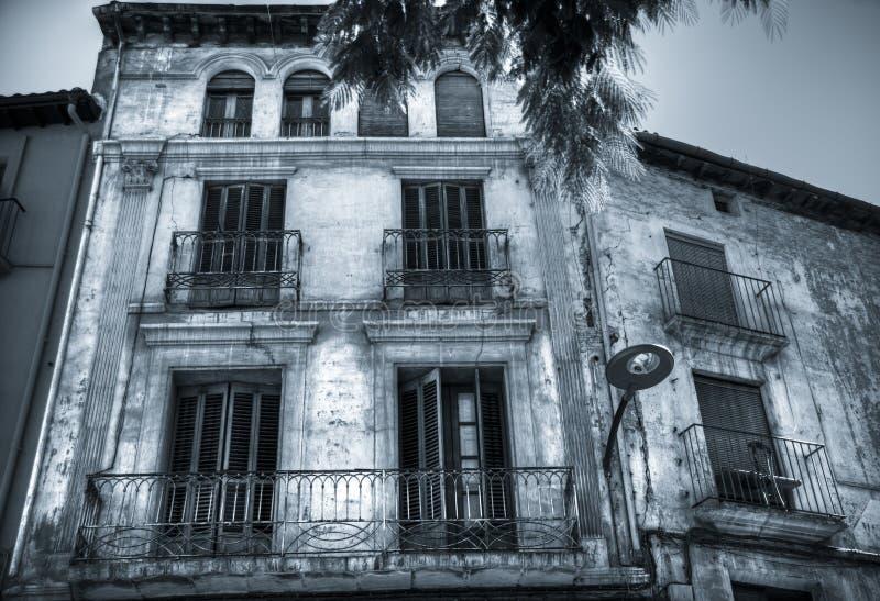 一个房子的门面在Barbatro,西班牙 库存照片