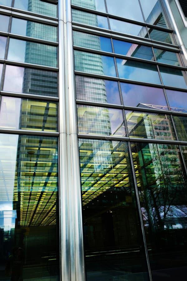 一个摩天大楼的反射windon的 免版税库存照片