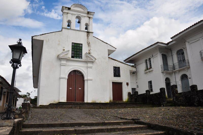 一个教会在波帕扬,哥伦比亚 图库摄影