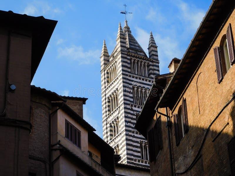 一个教会在锡耶纳,意大利 图库摄影