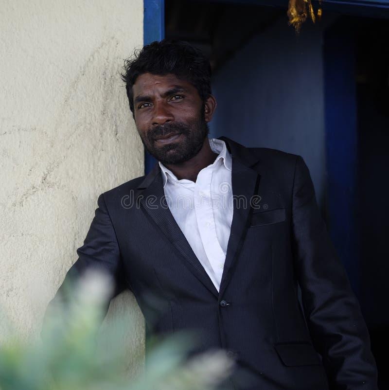 一个斯里兰卡的人的画象 库存照片