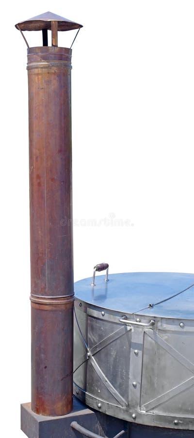 一个新的铁木火炉 免版税库存图片