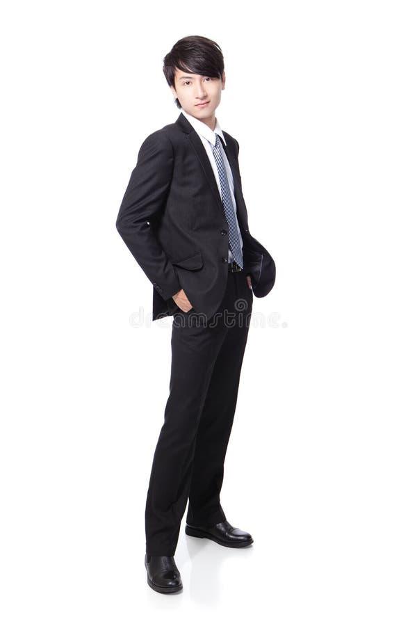一个新英俊的生意人的纵向 免版税库存照片