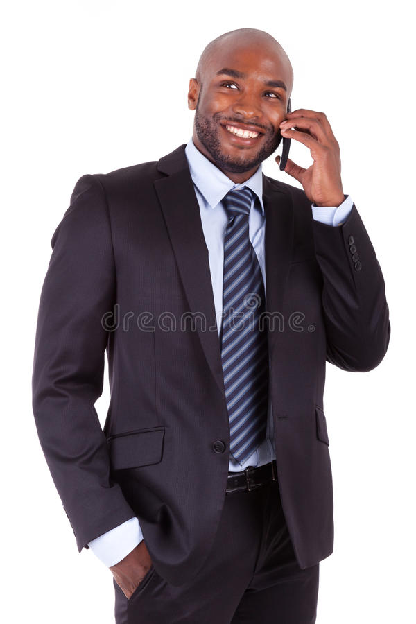 一个新非洲商人的纵向 免版税库存图片