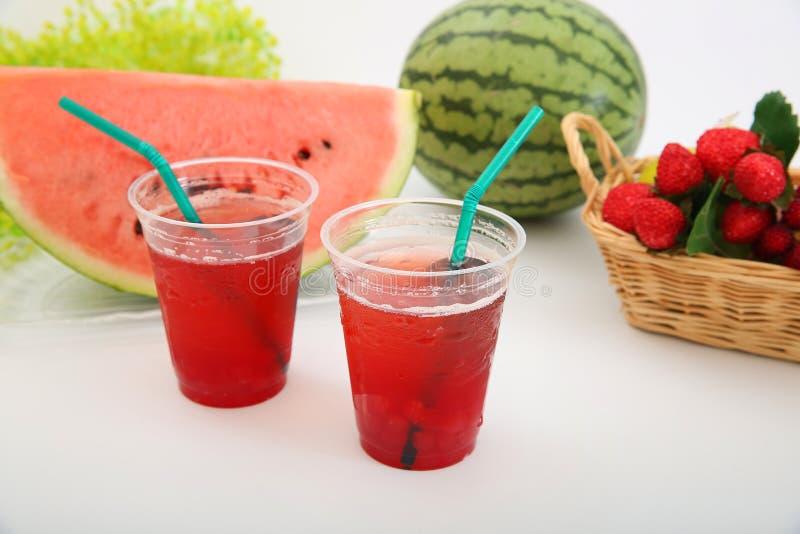 一个新鲜的日本西瓜的汁液 图库摄影
