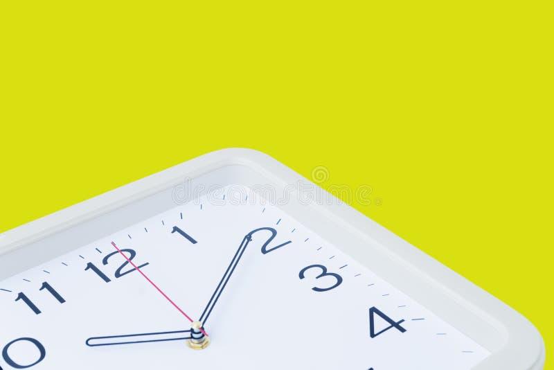一个方形的时钟 图库摄影