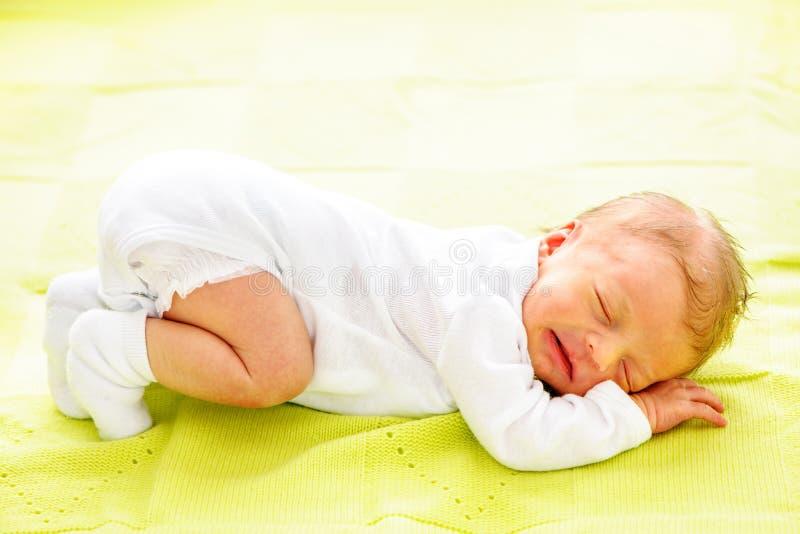 一个星期的新出生的婴孩 图库摄影