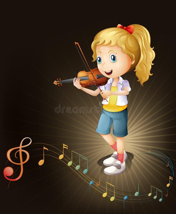 一个有天才的小提琴球员 向量例证