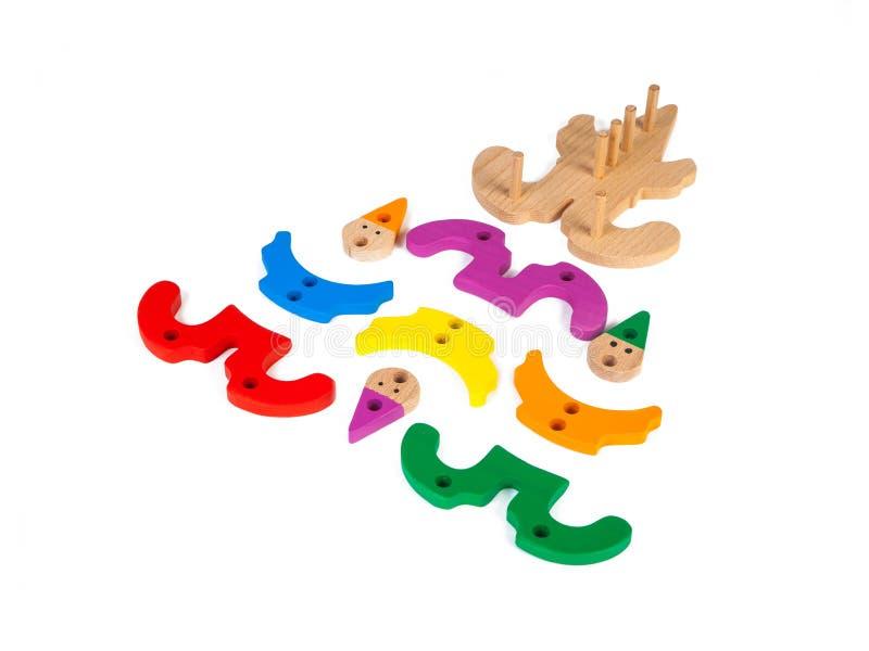 一个木玩具的照片 免版税库存照片