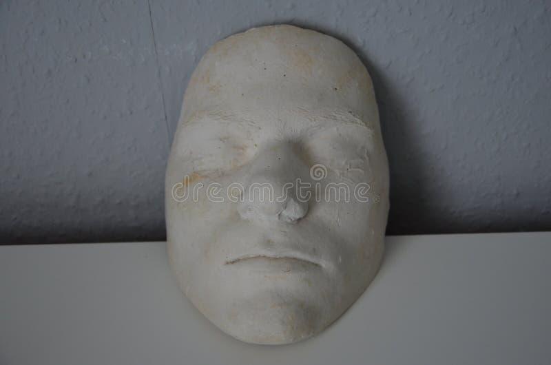 一个未知的人的石膏面具 免版税库存照片