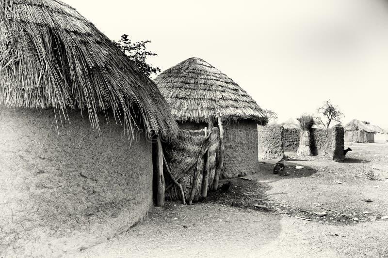 一个村庄在加纳 库存图片