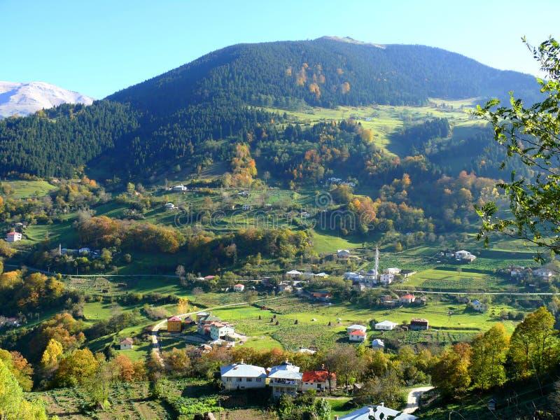 一个村庄在土耳其。 库存照片
