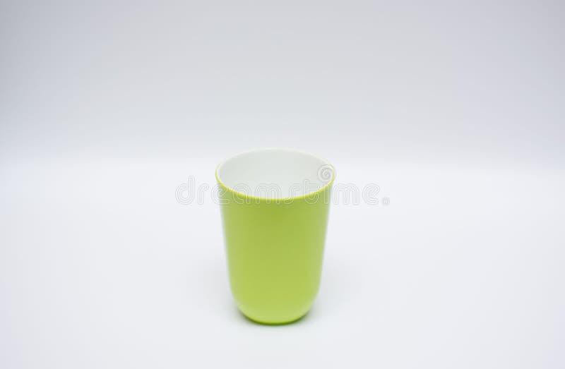 一个杯子塑料 免版税库存照片