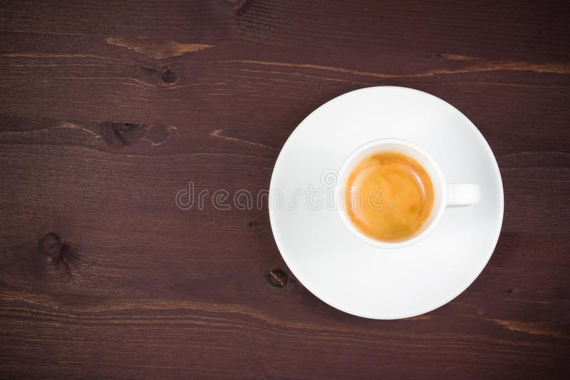 一个杯子看法上面意大利浓咖啡咖啡 免版税库存图片