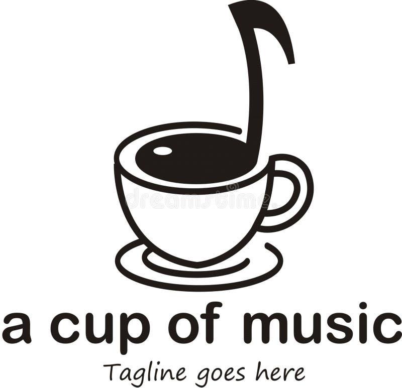 一个杯子音乐商标 向量例证