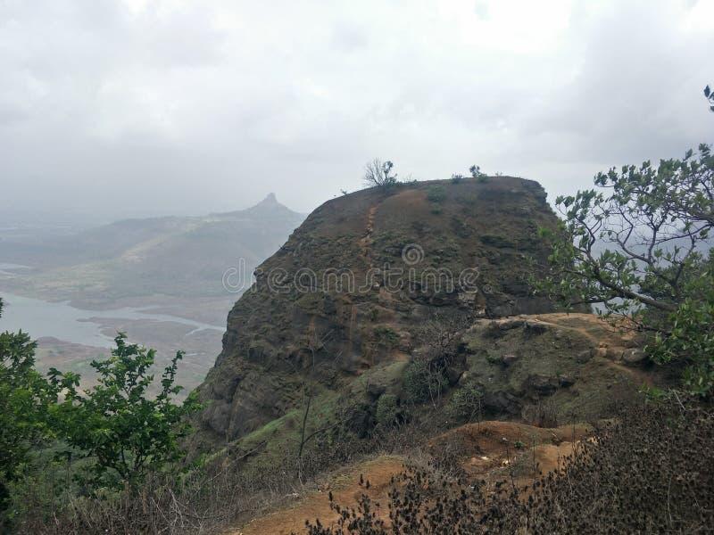 一个树小山点视图,马泰兰,孟买 免版税库存图片