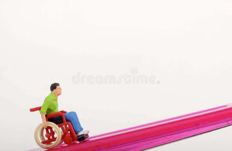 一个残疾人的缩样 免版税库存图片