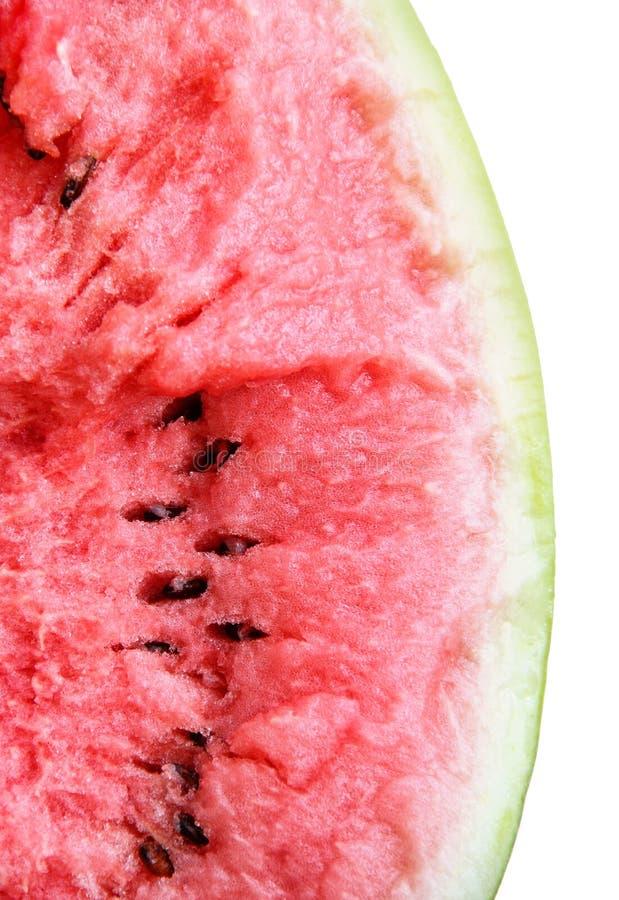 一个残破的西瓜的黏浆状物质 免版税库存照片