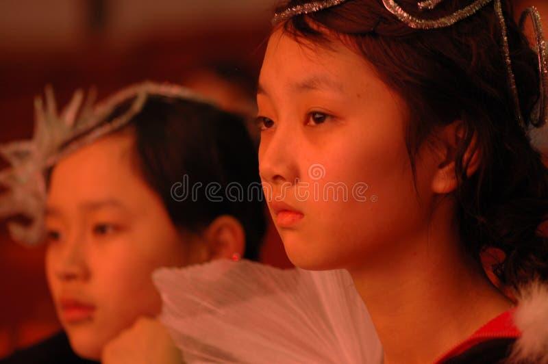 一个殷勤演员2007江西新春佳节节目 库存图片