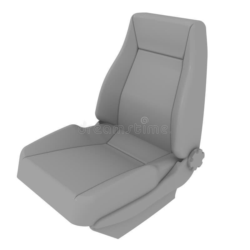 一个汽车座位 查出 向量例证