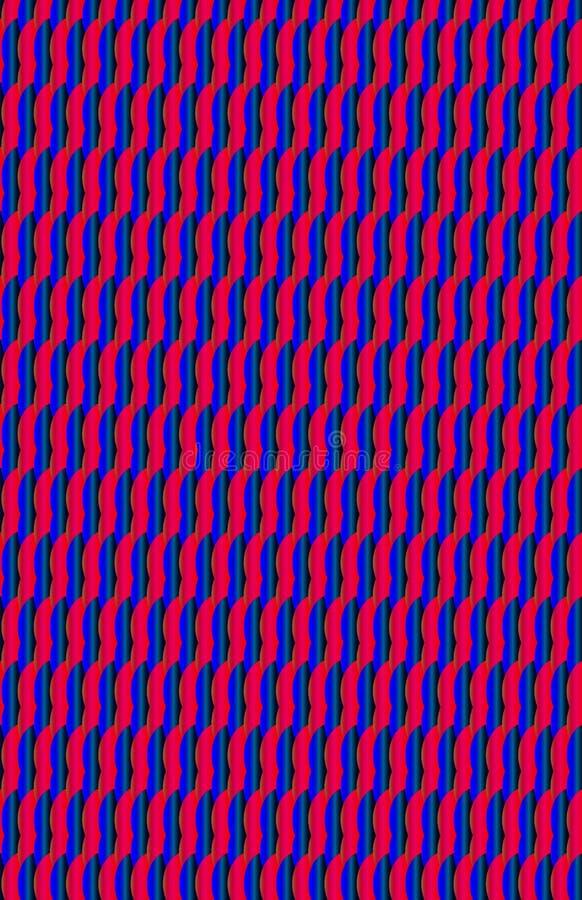 一个洋红色桃红色和蓝色弯曲的猛扑的样式 库存例证