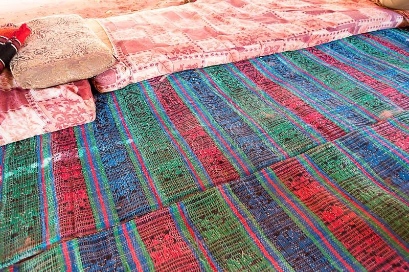 一个流浪的阵营的地毯 免版税图库摄影