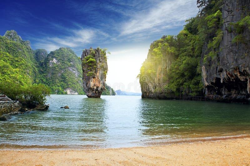 一个海岛在泰国 库存图片