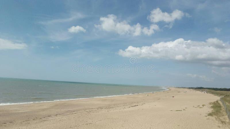 一个海滩 库存图片